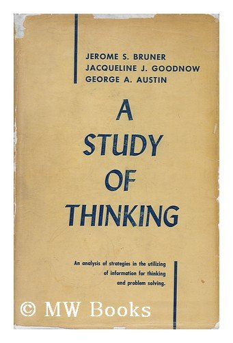9780471114154: Study of Thinking (A Wiley Publication in Psychology)