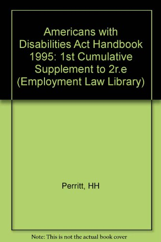 9780471115007: Americans With Disabilities Act Handbook (AMERICANS WITH DISABILITIES ACT HANDBOOK CUMULATIVE SUPPLEMENT)