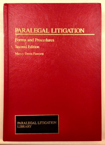 9780471115694: Paralegal Litigation: Forms and Procedures (Paralegal Litigation Library)