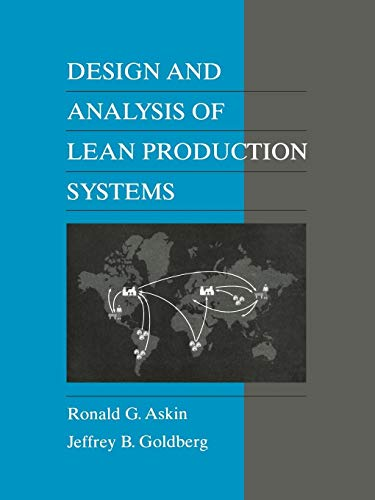 9780471115939: Design and Analysis of Lean Production Systems