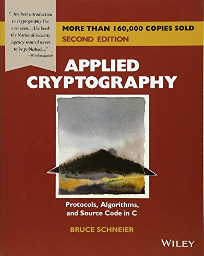 9780471117094: Applied Cryptography: Protocols, Algorithms, and Source Code in C