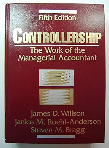 9780471117353: Controllership: The Work of the Managerial Accountant