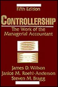 Controllership : The Work Of The Managerial Accountant Fifth Edition (Hb)