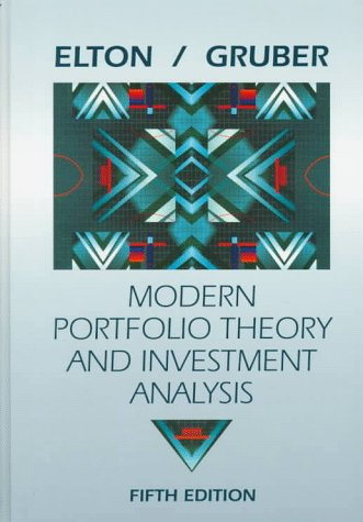 9780471120100: Modern Portfolio Theory Fifth Edition and Portfolio Software Set