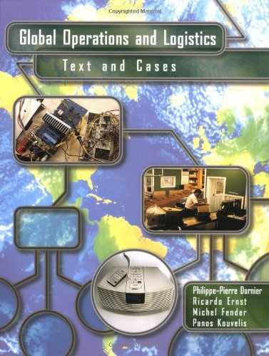 9780471120360: Global Operations and Logistics: Text and Cases