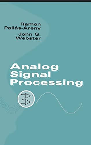 Analog Signal Processing (Hardback): Ramon Pallas-Areny, John G. Webster