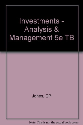 Investments - Analysis & Management 5e TB: CP Jones