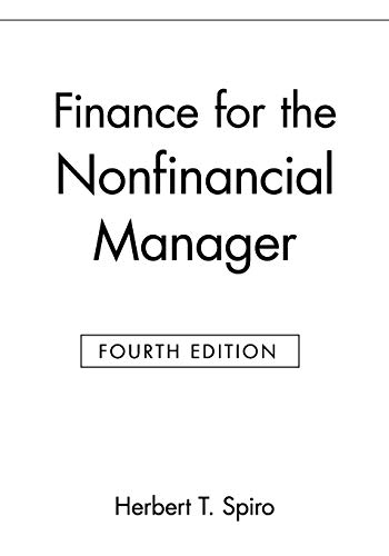 9780471127888: Finance for the Nonfinancial Manager