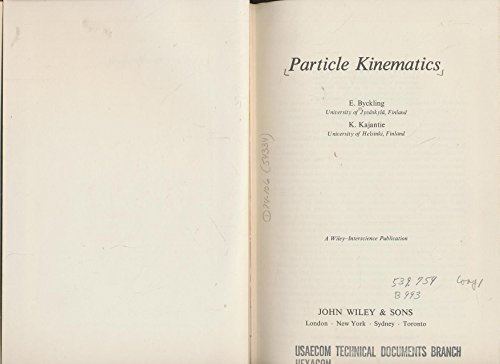 9780471128854: Particle Kinematics