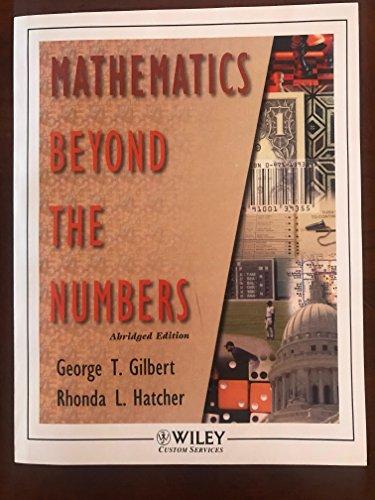 9780471133476: Mathematics Beyond the Numbers