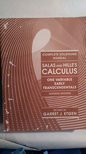 9780471133780: Calculus One Variable Early Transcendentals 7e Sol