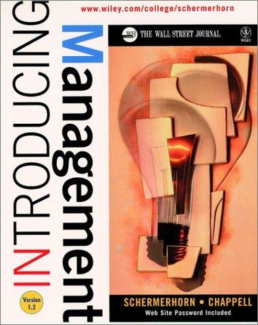 9780471135814: Introducing Management (Wall Street Journal Handbook)