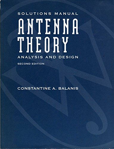 9780471137191: Antenna Theory - Analysis & Design 2e Sol