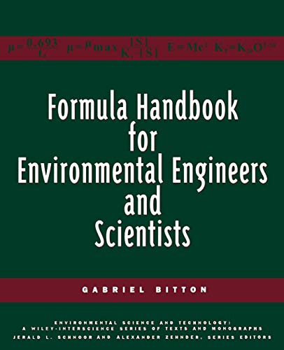 9780471139058: Formula Handbook for Environmental Engineers and Scientists