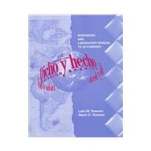 9780471140177: Dicho Y Hecho: Workbook: Beginning Spanish