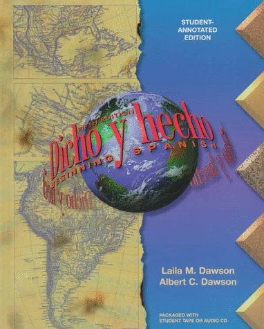 9780471140184: Dicho Y Hecho: Beginning Spanish