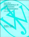 9780471141679: Fundamentals of Engineering Thermodynamics, Appendices