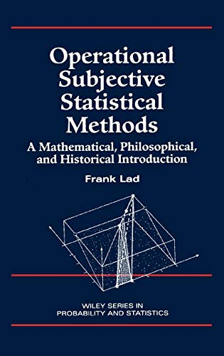 9780471143291: Subjective Statistical Methods: A Mathematical, Philosophical and Historical Introduction (Wiley Series in Probability and Statistics)