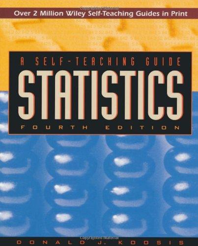9780471146889: Statistics: A Self-Teaching Guide