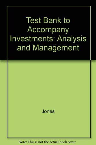 9780471149705: Test Bank to Accompany Investments: Analysis and Management