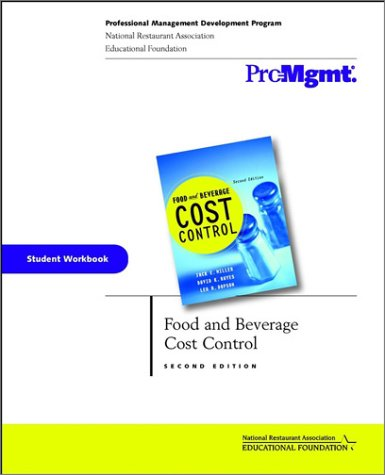 9780471149934: Food and Beverage Cost Control, Student Workbook