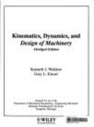 (wcs)kinematics For Mtu (0471150703) by Kenneth J Waldron