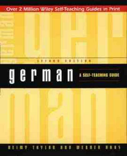 9780471157045: German: A Self-Teaching Guide (Wiley Self-Teaching Guides)