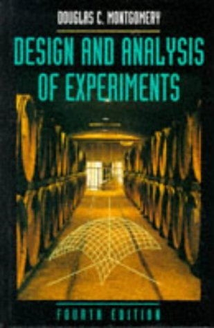 9780471157465: Design and Analysis of Experiments