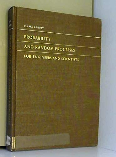 9780471159803: Probability and Random Processes for Engineers and Scientists