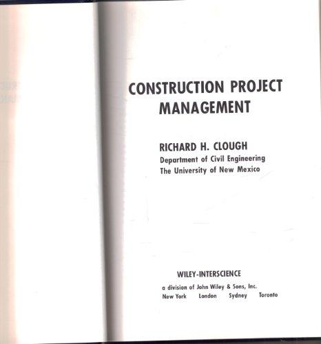 9780471161028: Construction Project Management