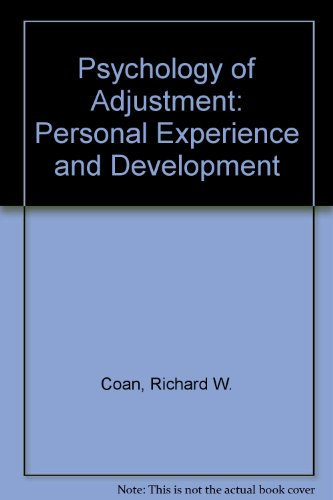 9780471161332: Psychology of Adjustment: Personal Experience and Development