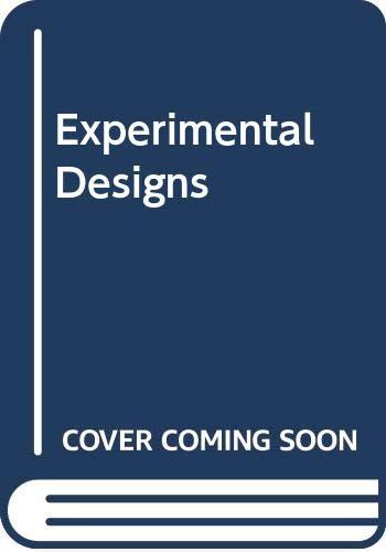 9780471162049: Experimental Designs
