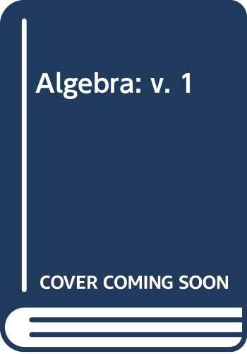 9780471164319: Algebra: v. 1
