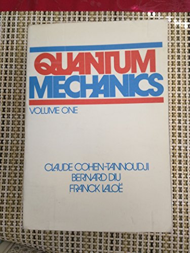 9780471164326: Quantum mechanics. Volume I