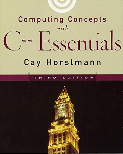 9780471164371: Computing Concepts with C++ Essentials