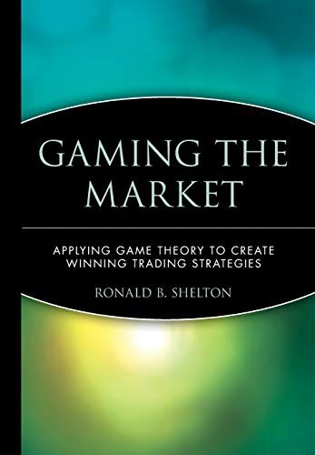 Gaming the Market 9780471168133 Gaming the Market: Applying Game Theory to Create Winning Trading Strategies is the first book to show investors how game theory is applicable to decisions about buying and selling stocks, bonds, mutual funds, futures, and options. As a practical trading guide, Gaming the Market will help investors master this revolutionary approach, and employ it to their advantage. Although game theory has been studied since the 1940s, it has only recently been applied to the world of finance. Game theory champions garnered the 1994 Nobel Prize in Economics, and, today, this theory is used to analyze everything from the baseball strike to FCC auctions. Increasingly, game theory is making its mark as a potent tool for traders. In Gaming the Market, economist Ronald B. Shelton provides a model that enables traders to predict profitability and, as a result, make effective buy and sell decisions. Stated simply, game theory is the study of conflict based on a formal approach to decision making that views decisions as choices made in a game. Whether playing individually or in a group, each player in a conflict has more than one course of action available to him, and the outcome of the  game  depends on the interaction of the strategies pursued by each. Shelton offers real-world examples that reveal how the principles of game theory drive financial markets —and how these same principles can be used to develop winning investment strategies. Through Shelton's organized and precise explanations—he uses familiar games such as chess and checkers to illustrate his points —readers gain a solid understanding of the key principles of game theory before applying them to actual financial market situations. Gaming the Market examines the interaction between price fluctuations and risk acceptance levels and gradually constructs a game theory model which proves that there are probability-based formulas for determining the profitability of any given trade. With appendixes on T-Bond fut...