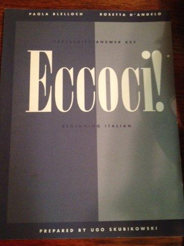 9780471168256: Eccoci - Beginning Italian Cs