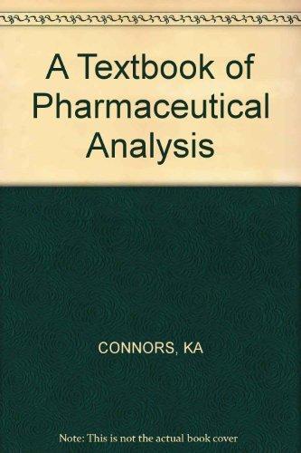 9780471168539: A Textbook of Pharmaceutical Analysis