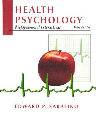 9780471169178: Health Psychology: Biopsychosocial Interactions