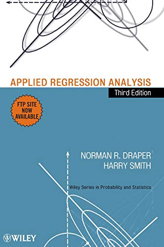 9780471170822: Applied Regression Analysis (Wiley Series in Probability and Statistics)