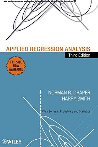 9780471170822: Applied Regression Analysis