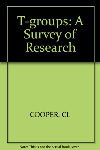 9780471171232: T-groups: A Survey of Research