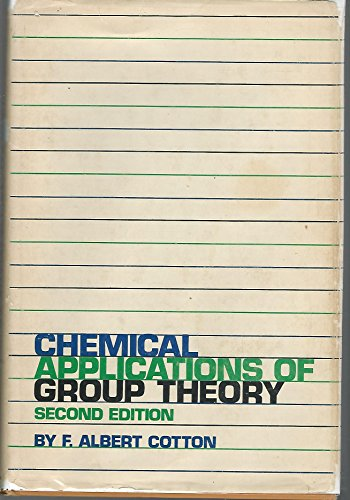 9780471175704: Chemical Applications of Group Theory