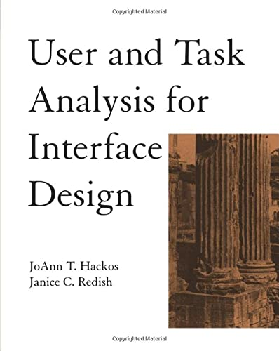 9780471178316: User and Task Analysis for Interface Design
