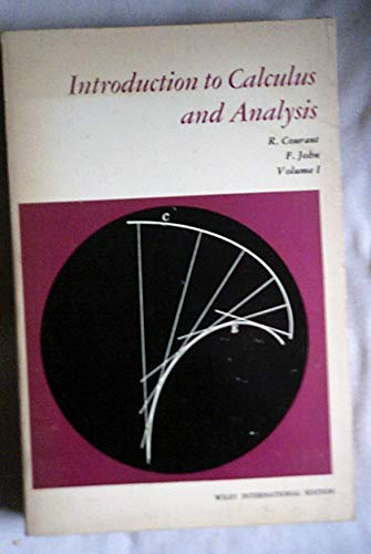 9780471178613: Introduction to Calculus and Analysis: v. 1