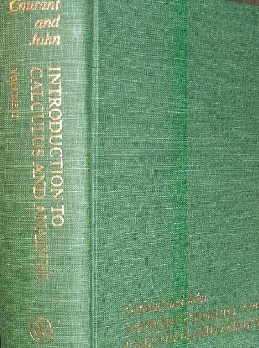 Introduction to Calculus and Analysis, Vol. 2: Richard Courant; Fritz