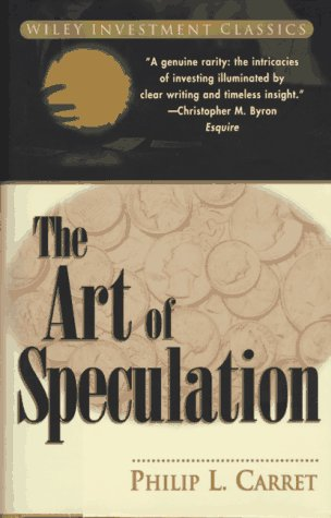 9780471181873: The Art of Speculation (Wiley Investment Classics)