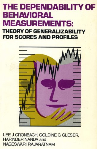 9780471188506: The Dependability of Behavioral Measurements: Theory of Generalizability for Scores and Profiles
