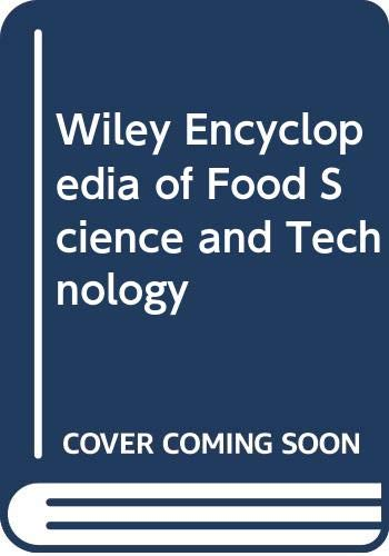 9780471192572: Wiley Encyclopedia of Food Science and Technology, Second Edition, Volume 3