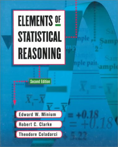 9780471192770: Elements of Statistical Reasoning
